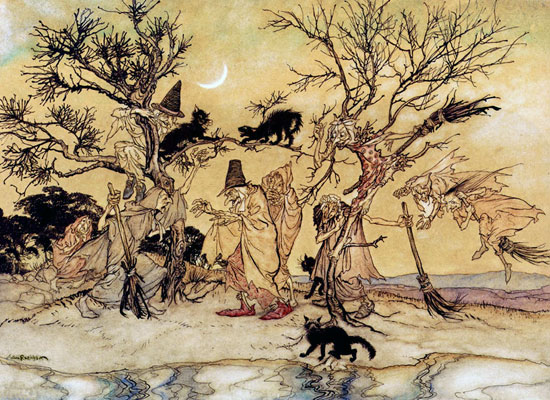 witches sabbath arthur rackham